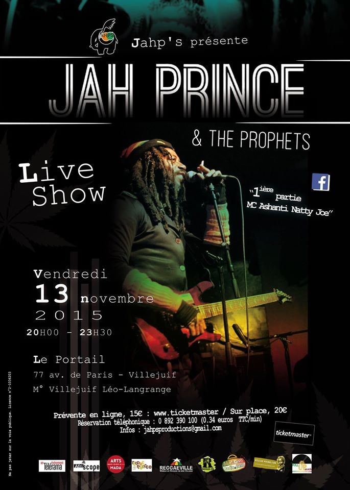 Jah Prince and The Prophets affiche