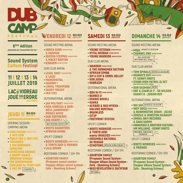 Dub Camp Festival 2019 Line Up